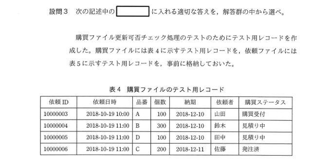 平成30年秋期 午後試験 問5-3